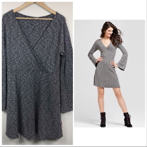 Mossimo Supply Co. Dresses & Skirts - MOSSIMO   NWT Bell Sleeve Wrap Style V Neck Dress